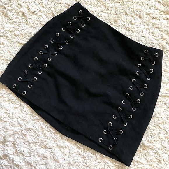 H&M suede mini skirt